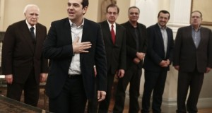 Alexis Tsipras smiles after being sworn in as prime minister