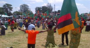 Hundreds of Zambians have gathered in Lusaka's Show Grounds main arena where the prayers are conducted