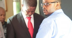Former PF Media Committee Vice Chairperson Sunday Chanda and Republican President Edgar Lungu