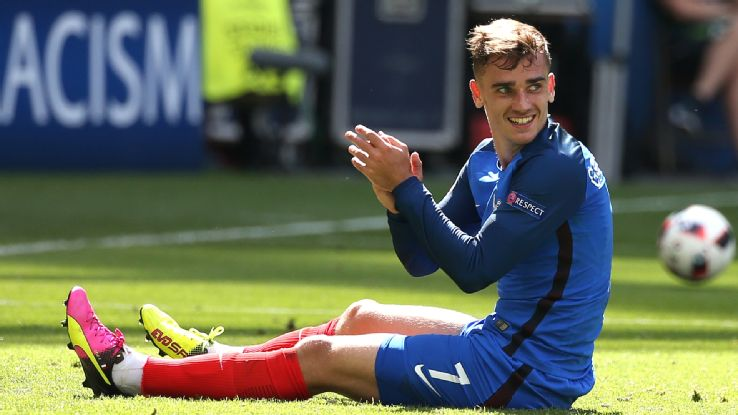 970979e3a51030 Griezmann named best player of Euro 2016. French forward and tournament top  scorer Antoine Griezmann