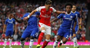 Arsenal overpowered London rivals Chelsea 3-0 at the Emirates Stadium
