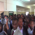 HH and his supporters leaving the courtroom – picture by Albert Mpezeni