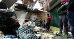 The blasts hit during the Saturday morning rush in a busy market area