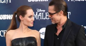 """May 28, 2014: Angelina Jolie and Brad Pitt arrive at the world premiere of """"Maleficent"""" in Los Angeles.  (Photo by Matt Sayles/Invision/AP, File)"""