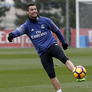 MADRID, SPAIN - FEBRUARY 10: ... of Real Madrid ... during a training session at Valdebebas training ground on Frebuary 10, 2017 in Madrid, Spain. (Photo by Angel Martinez/Real Madrid via Getty Images)
