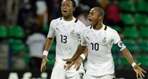 Double trouble - the Ayew brothers with certainly keep Cameroon on their toes.