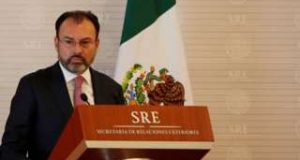 "Mexico ""would have to respond"" to a US border tax, Foreign Minister Luis Videgaray says"