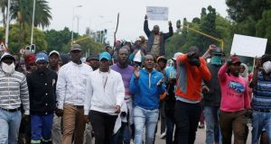 South African nationals marched through Pretoria to protest against immigrants