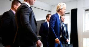 Geert Wilders turned out to vote in The Hague
