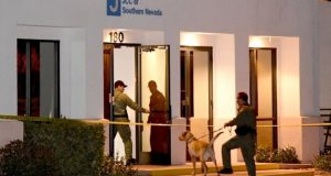 A Las Vegas area Jewish centre is searched for bombs after a suspicious phone call