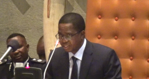 President Edgar Lungu Friday address closeup