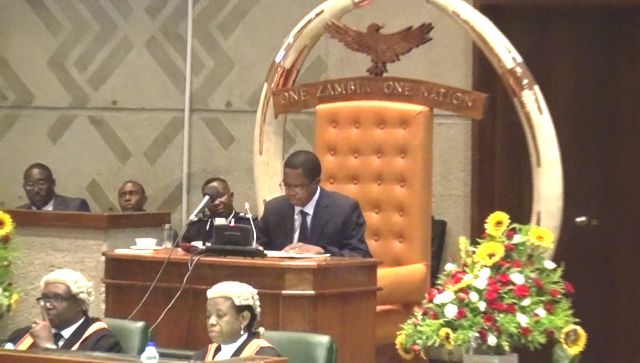 President Edgar Lungu Friday address long short