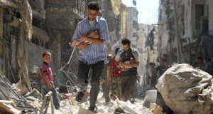 The Syrian and Russian government deny targeting civilians in what was rebel-held Aleppo