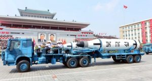 North Korea showed off military hardware at a parade in honour of the anniversary of founding father Kim Il-sung's birth