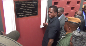 President Lungu officially opens Chilenje First level Hospital