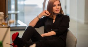 Chastain plays the lead role in Miss Sloane, which is released in the UK this weekend