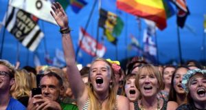 Sheeran attracted a significantly younger audience to the Pyramid Stage
