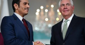 Qatar's foreign minister held talks with the US secretary of state in Washington on Tuesday