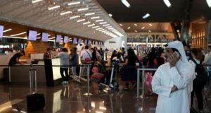 Restrictions imposed by four Arab states have affected flights in and out of Qatar