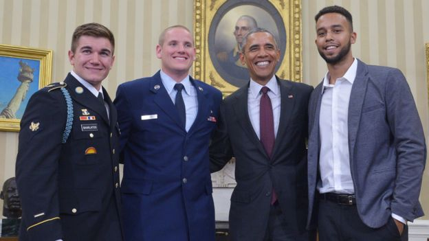 The trio also received an audience with President Obama at the White House