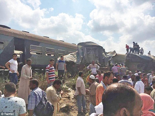 At least 20 people have been killed and dozens more are injured after two trains crashed into each other in Alexandria, Egyp Read more: http://www.dailymail.co.uk/news/article-4782202/At-20-killed-two-trains-collide-Egypt.html#ixzz4pSLsdipx Follow us: @MailOnline on Twitter | DailyMail on Facebook