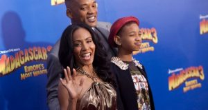 "Jada Pinkett Smith (L), her daughter Willow Camille Reign Smith (R) and husband actor Will Smith, arrive for the premiere of ""Madagascar 3: Europe's Most Wanted"" in New York June 7, 2012.  (REUTERS)"