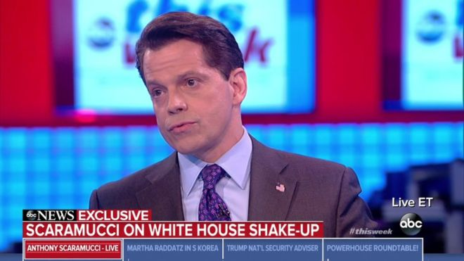 Anthony Scaramucci gave his first interview since his dismissal last month