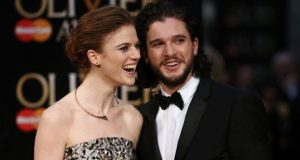 Harington and Leslie appeared on the red carpet at the 2016 Olivier Awards