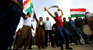 Kurds danced on the streets of Kirkuk, a city also claimed by the central Iraqi government