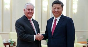 Rex Tillerson is in China meeting President Xi Jingping and other top officials