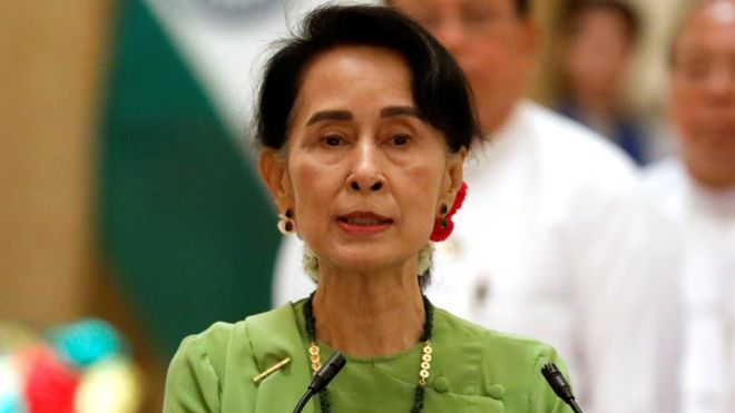 Aung San Suu Kyi has been criticised over her handling of the Rohingya crisis