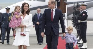 The couple took their two children, George and Charlotte, on an official visit to Poland in July