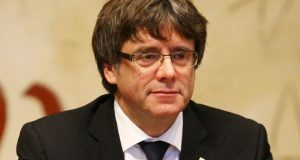 Carles Puigdemont presided over a cabinet meeting on Tuesday