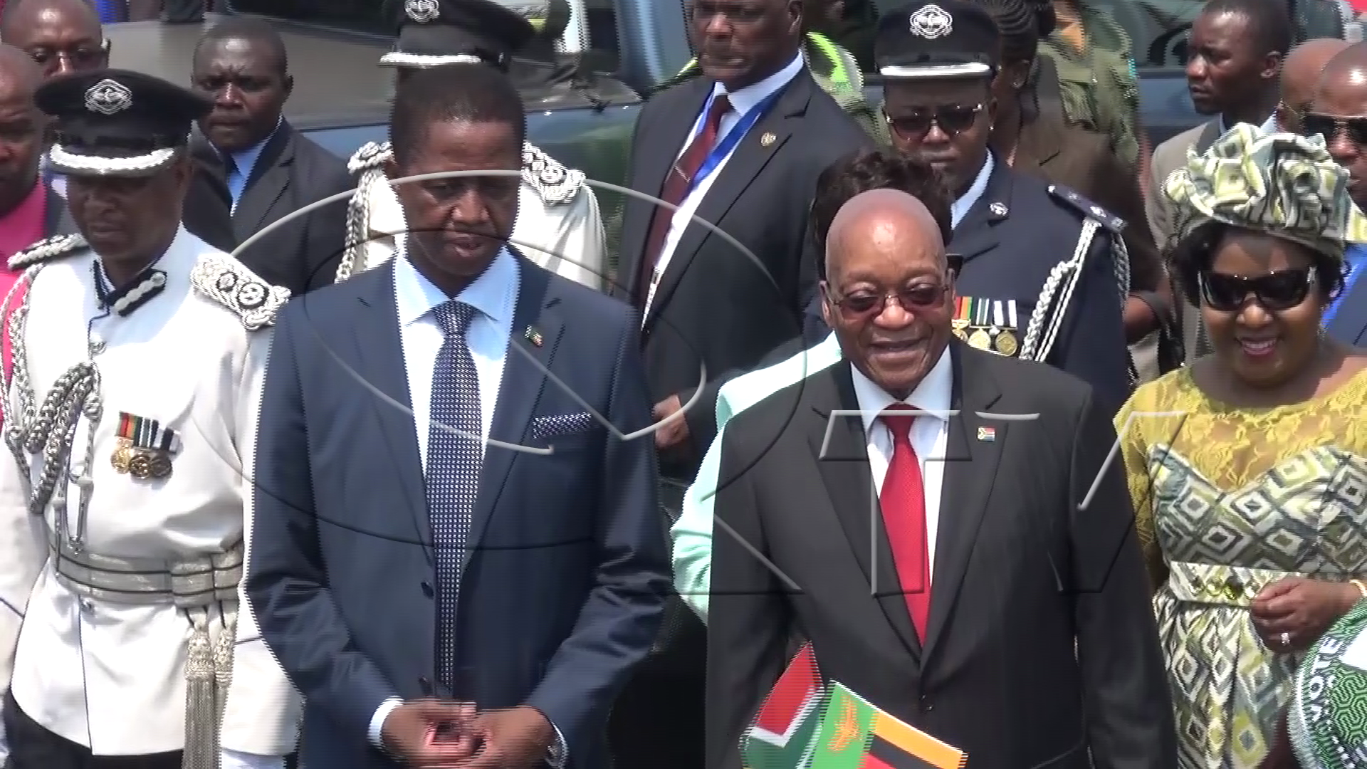 President Edgar Lungu with his South African counterpart Jacob Zuma