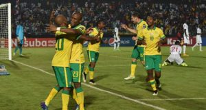Lamptey awarded South Africa a first-half penalty for a non-existent handball