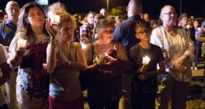 A candlelit vigil was held for victims of the shooting in Sutherland Springs