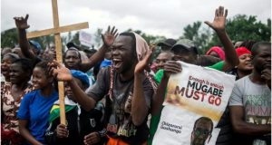 A cross-section of society took to the streets to press Mr Mugabe to go