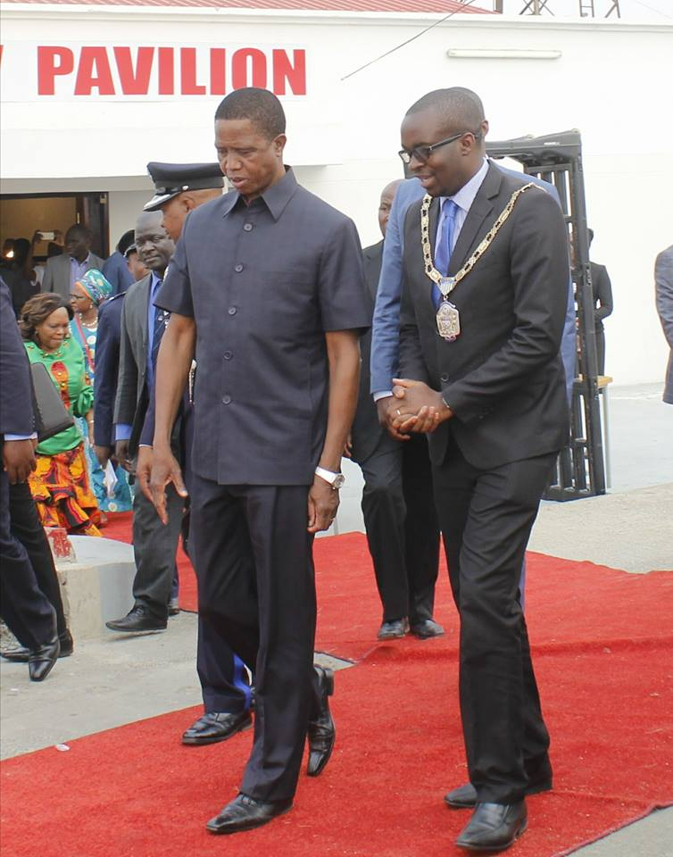 President Lungu with Kang'ombe Christopher