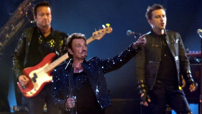 """Hallyday broke from France's classic """"chanson"""" tradition in the 1950s, starting singing rock and roll in French"""