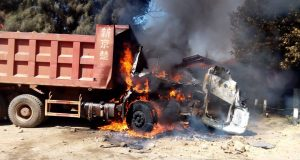 Donated truck set ablaze