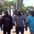 Chishimba Kambwili arriving at Lusaka Central Police