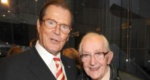 Gilbert made two Bond films with Sir Roger Moore, pictured with him in 2009