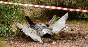 Debris found near the site of an F-16 jet crash in northern Israel