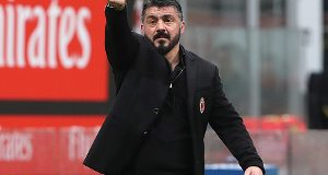during the serie A match between AC Milan and AC Chievo Verona at Stadio Giuseppe Meazza on March 18, 2018 in Milan, Italy.
