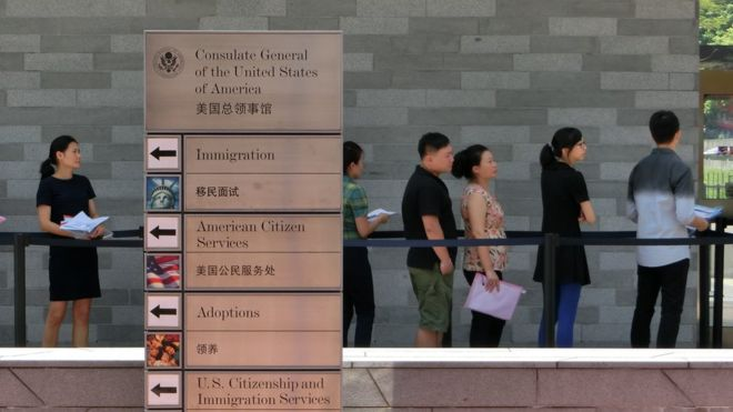 The affected staff member reportedly worked at the US consulate in Guangzhou