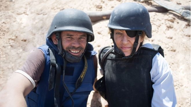 "Paul Conroy and the ""notoriously difficult"" Marie Colvin"