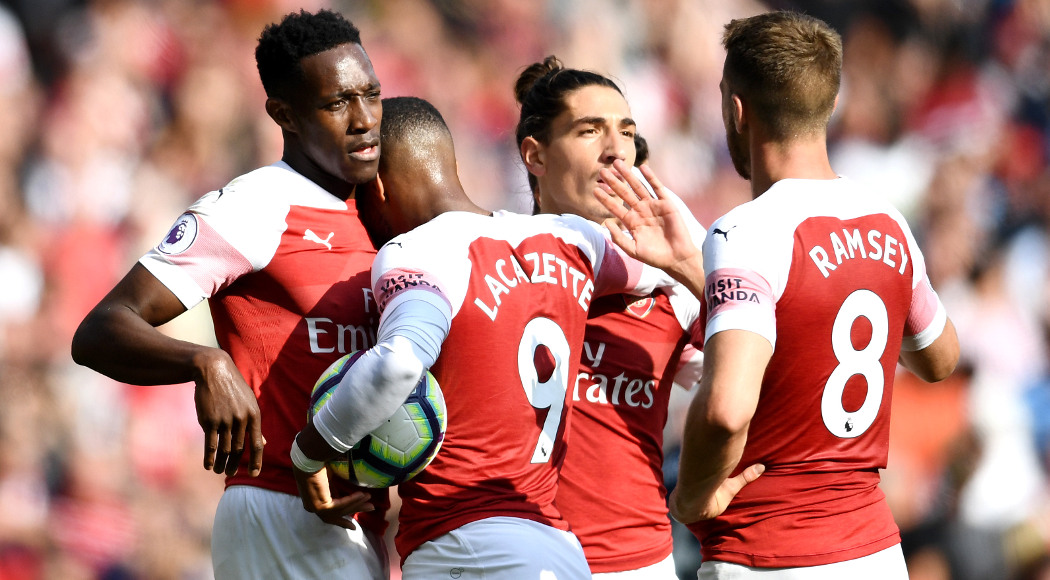 3bbe03ae905 Arsenal sign new kit deal with Adidas. during the Premier League match  between Arsenal FC and West Ham United at Emirates Stadium on
